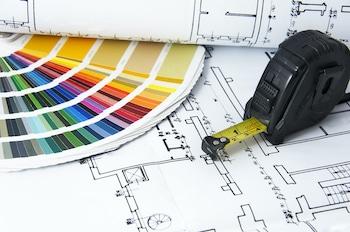 Barvna shema in plan za prenovo hiše